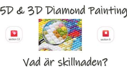 5D och 3D Diamond Painting – vad är skillnaden?