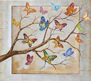 fjärilar på grenar