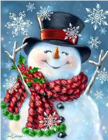 glada snögubbe