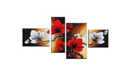 Vecka 12 – Fyrdelade tavla med blommor