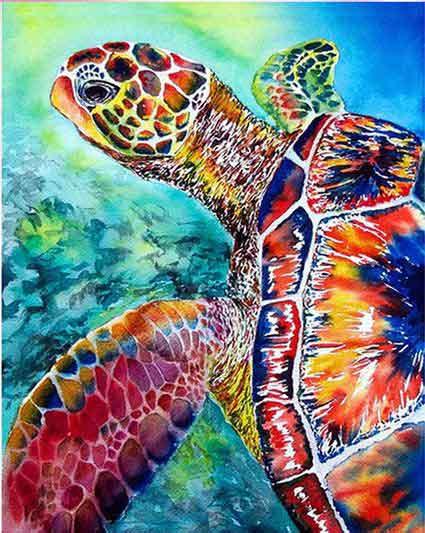 färgglad sköldpadda