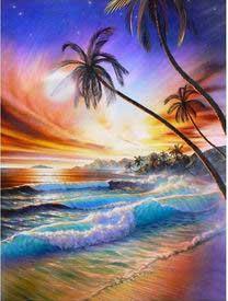 strand med vågor