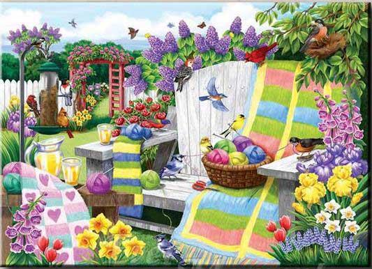 fåglar i en trädgård