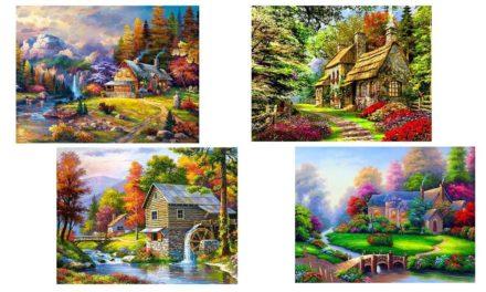 Vecka 45 – Hus i olika färgglada miljöer