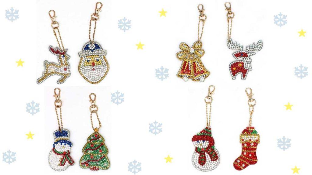 nyckelringar med jultema