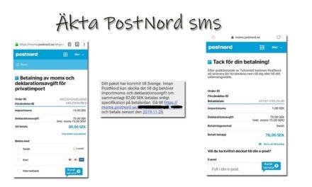 PostNord sms – hur ser ett äkta ut?