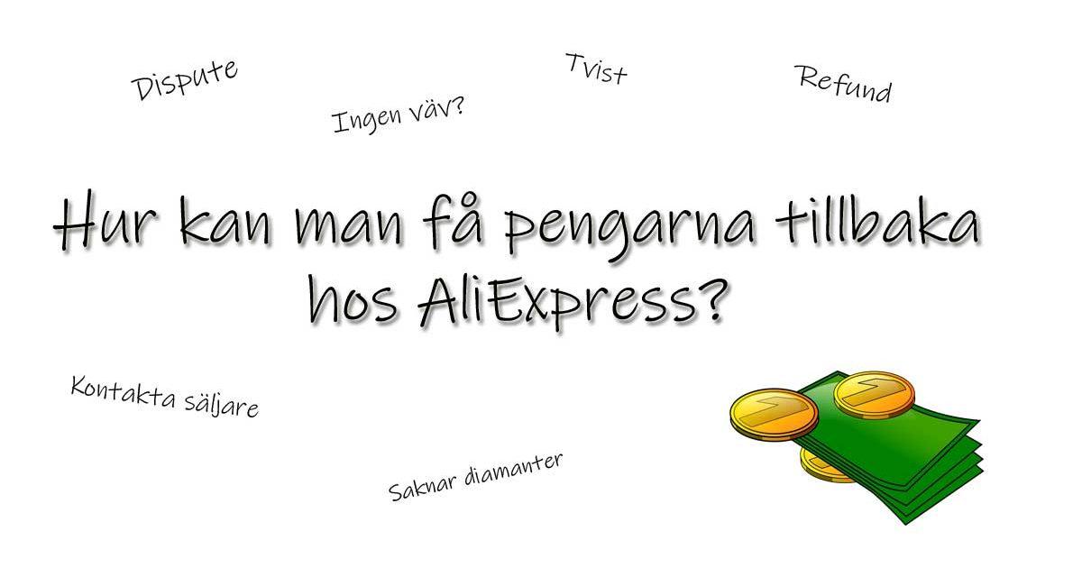 Pengarna tillbaka hos AliExpress