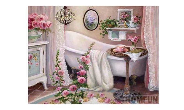 Vecka 36 – Blommor i ett badrum