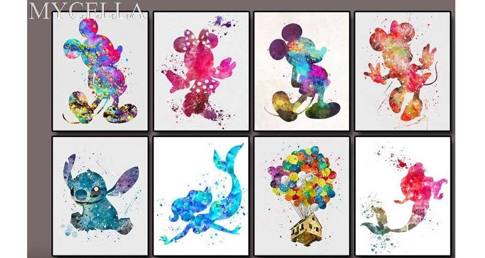 färgglada Disneyfigurer