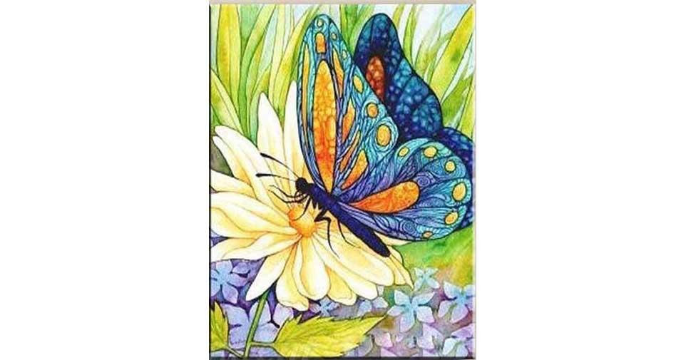 Fjäril på blomma