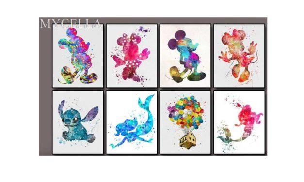 Vecka 38 – Färgglada Disneyfigurer