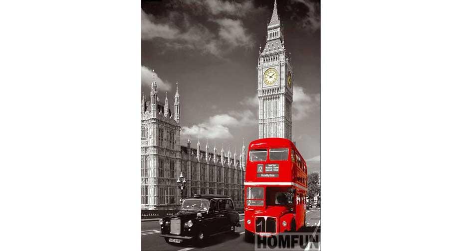 En dubbeldäckare som åker på Londons gator
