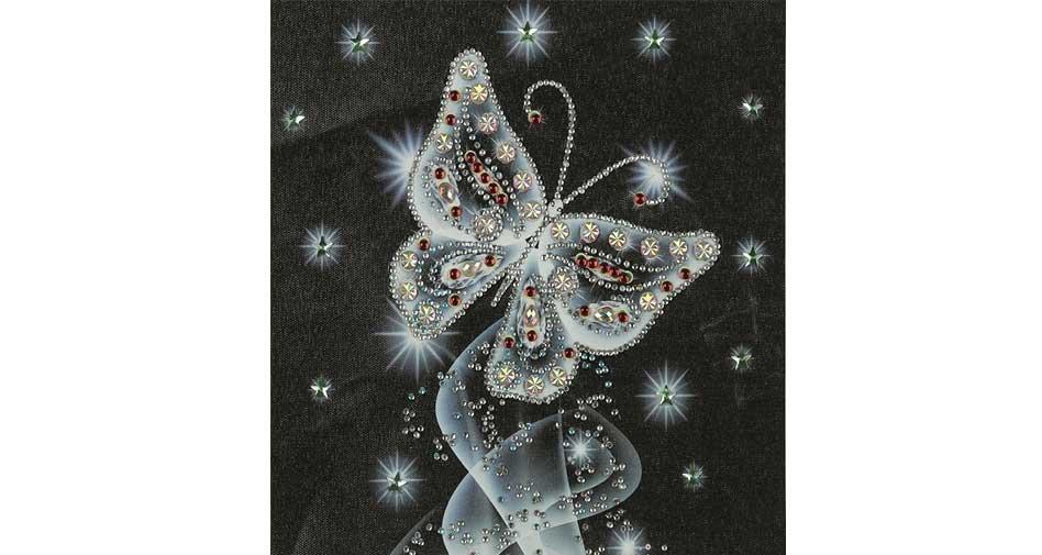 Fjäril i silver