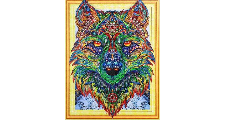 färgglada varg
