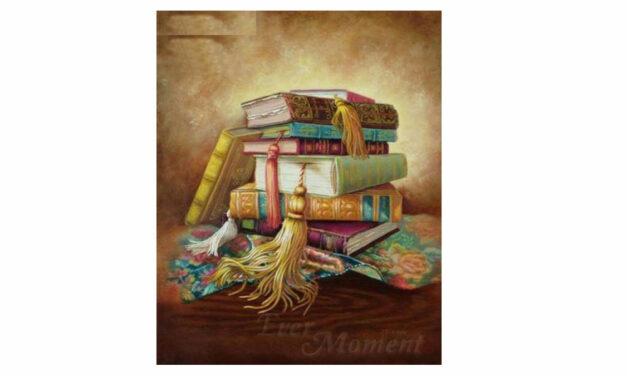 Vecka 18 – Hög med böcker