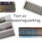 Test av diamantplaceringsverktyg