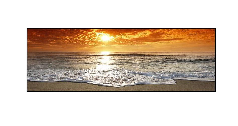 solnedgång vid havet